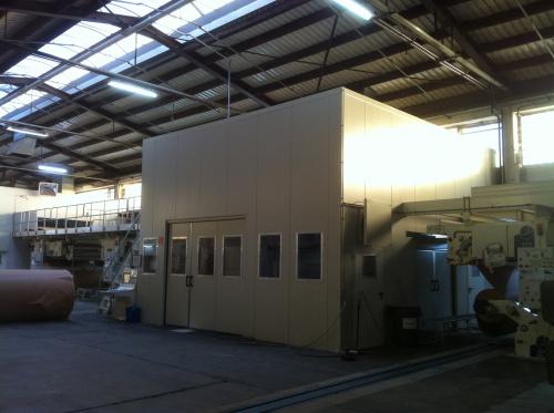 Lärmschutzkabine Papierverarbeitung